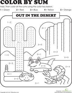 RJ-This would be a fun work sheet to incorporate math into our lesson over deserts.