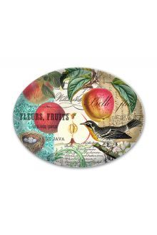 Michel Design Works Glass Soap Dish - Sweet Apple We made these graceful dishes specifically to fit our new largesize bath soap bars Each curved piece of translucent lightweight glass is beautifully decorated and hand washable I. Please Click the image for more information.
