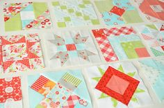 Surely I need to join the Farmers Wife quilt along!  Just look at these squares!