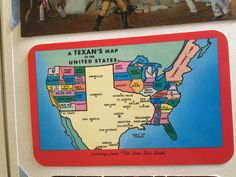 Texan's Map of America Postcard from Texas (duh)