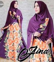Gamis Syari Aina Purple