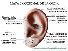 Puntos emocionales en la oreja... las emociones y los órganos del cuerpo están unidos reflexologicamente y bajo tratamiento de acupuntura auricular puedes sanar las partes del cuerpo a tratar.