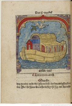 Dit is die prologhe và den spieghel onser [...]. [Ceci est le prologue du miroir de notre salut] (Fol. 5, verso :) Hier beghint die spieghel... [Ici commence le miroir de notre salut]. A la fin : Dit boek is volmaect... [Ce livre a été achevé dans la bonne ville de Culenborg par moi Jean Veldener dans l'année 1483] Éditeur : Johann Veldener (Culemborg) Date d'édition : 1483  Langue :Néerlandais  Droits : domaine public Identifiant : ark:/12148/bpt6k10404709