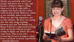 Amanda Marcott atheism quote