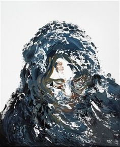 Looking Down I von Maggi Hambling Maggi Hambling, Painted Boards, Lion Sculpture, Ocean, Fine Art, Statue, Lungs, Painting, Portraits