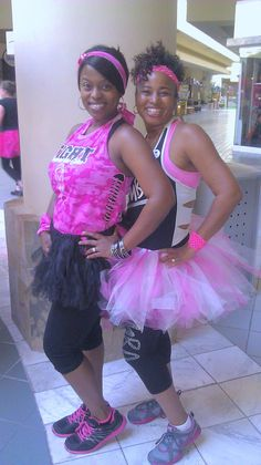 #partyinpink Zumba 'wear your tutus for tatas' Zumbathon event.  Breast Cancer Awareness.