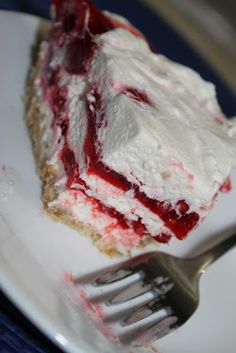 Raspberry Ribbon Pie - 2 Maids a Milking - Two Maids a Milking