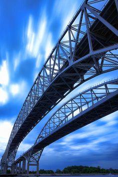 Very Blue Water Bridge - The Blue Water Bridge in Port Huron, Michigan