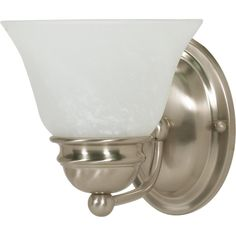 """Empire 1 Light 7"""" Vanity with Alabaster Glass Bell Shades"""