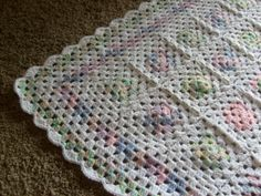 granny square baby blanket,one more.
