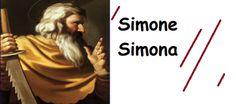 """Simone e Simona significano """"Dio che ascolta"""", l'onomastico si festeggia il 18 Settembre, il nome di origini ebraiche. Secondo l'ISTAT è l'ottavo nome,"""