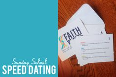 Dancing Commas: Sunday School Speed Dating... icebreaker/team-building activity for teens and adults