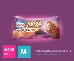 """Neslte Egypt Mega Cookies is """"Made in Matter"""". #packaging #design #matterbranding #matter #mtr"""