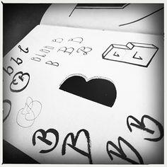 B, kleine letters, handlettering