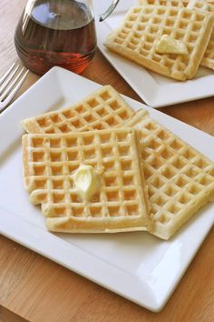 The BEST easy, homemade buttermilk waffles.~These were good, a little time consuming. I would make these again