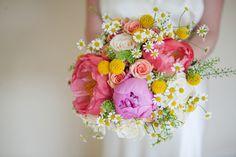 pretty summer bridal bouquet | www.onefabday.com