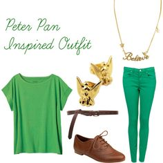 Designer Clothes, Shoes & Bags for Women Disney Clothes, Disney Outfits, Cute Outfits, Peter Pan Outfit, Disney Princess Characters, Inspired Outfits, Style Me, Magic, Style Inspiration