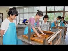 Washi, craftsmanship of traditional Japanese hand-made paper - YouTube