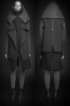 fashion, silhouette, structure, Rad Hourani - Unisex Transformable Collection #7