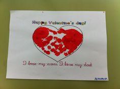 Valentine's day preschool activity.  Actividad infantil para el día de san Valentín.