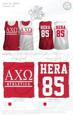 Alpha Chi Omega   AXO   Custom Jersey Design   Greek Intramural Jerseys   South by Sea   Greek Tee Shirts   Greek Tank Tops   Custom Apparel Design   Custom Greek Apparel   Sorority Tee Shirts   Sorority Tanks   Sorority Shirt Designs