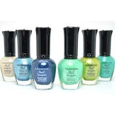 6 KLEANCOLOR PEARL COLLECTION NAIL POLISH LACQUER MANICURE + FREE... (11 CAD) ❤ liked on Polyvore featuring beauty products, nail care, nail polish and manicure nail polish