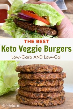 The BEST Keto Veggie BurgerLow in Carbs The BEST Keto Veggie BurgerL. Der beste Keto Veggie Burger Low in Kohlenhydraten Der beste Keto Veggie Burger Low in Kohlenhydraten Low Carb Vegetarian Recipes, Diet Recipes, Healthy Recipes, Veggie Burger Recipes, Best Veggie Burger, Recipes Dinner, Vegetarian Dish, Smoothie Recipes, Healthy Food