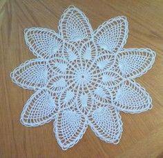 Hand Crochet Doily - Nine Point Pineapple