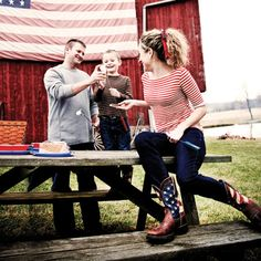 Patriotic Pull-On Western Flag Boot - Lady Rebel by Durango - Style #RD4414 - Durango Boot Company