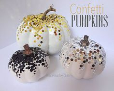 Confetti Pumpkins  I think I am going to combine two ideas found on pinterest.  This and the vampire teeth insert!  Glamorous spooky!