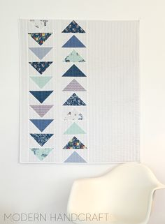 This Way That Way Flying Geese Baby Quilt Tutorial by Nicole Daksiewicz