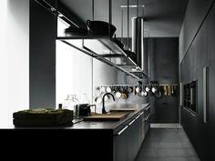 cuisine de design élégant en gris