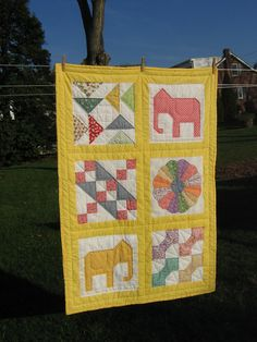 Second elephant quilt - made by my sister-law Joy.