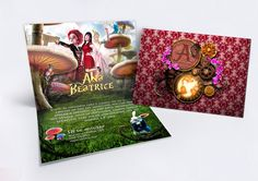"Convite Ana Beatrice. ""Alice in Wonderland"""