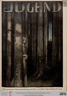 """Paul Wilhelm Keller-Reutlingen (1854- 1920), cover illustration for the magazine """"Jugend"""" - 1896"""