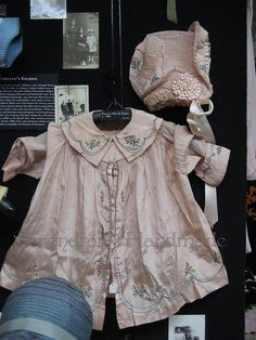 1920s Girl's Pink Silk Dress At the Lacis Museum of Lace and Textiles