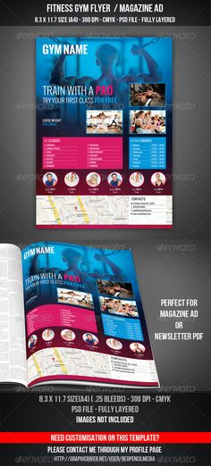 Fitness Flyer - Gym Flyer Bundle Gym, Flyer template and Flyer - fitness flyer