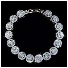 Swarovski Crystals Custom Silver Bracelet