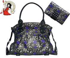 gothic purses | IRON FIST goth MUERTE skull bag HANDBAG & PURSE SET | eBay