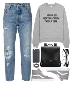 """""""Untitled #2797"""" by naomimjc ❤ liked on Polyvore featuring Levi's, Vans, ZeroUV and AeraVida"""