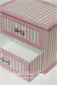 カルトナージュ : Petit Trianon *** cartonnage & interior ***