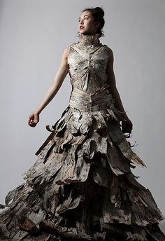 tree bark dress