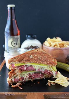 Irish Spicy Reuben Sandwich is AHhhmazing! The secrets in the spicy sauce baby! www.cookingwithru...