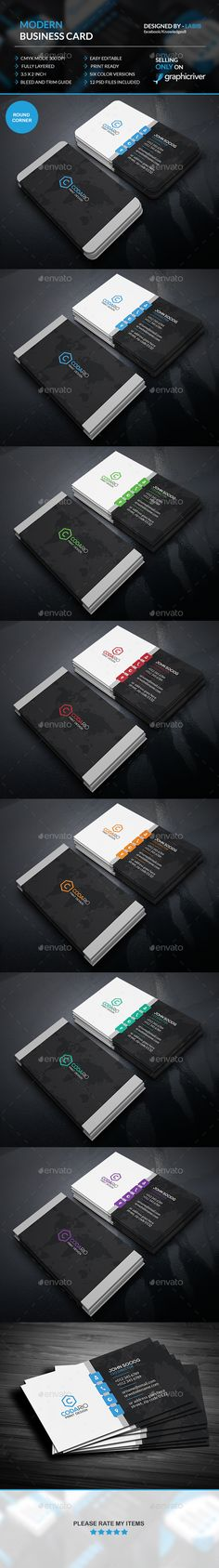 Modern Corporate Business Cards - Creative Business Cards Download here : http://graphicriver.net/item/modern-corporate-business-cards/12677186?s_rank=1745&ref=Al-fatih