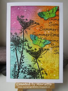Stamping Mariëtte: Colorfull summer card