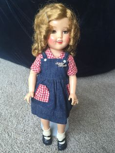 "Vintage 17"" Ideal ST-17-1 Shirley Temple Doll 1952 Flirty Eyes Rare EUC! #Ideal…"