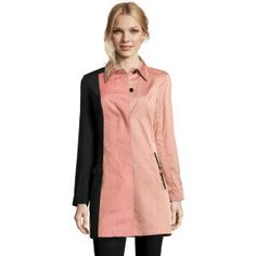Trench coat<br/>pink and black