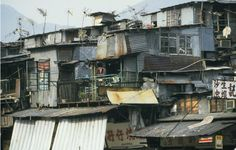 100203_02 Kowloon Walled City, Scenery Photography, Urban Photography, Hong Kong Architecture, Hong Kong Night, Sci Fi Environment, Urban Setting, Slums, Photo Backgrounds
