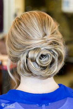 Rose inspired updo.