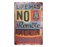 Placa Decorativa No Remote - 40X60cm | Westwing - Casa & Decoração